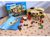 Playmobil Camper Van Set - good condition & boxed. A few v.small accessory parts missing.