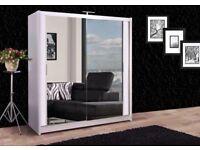 🚚🚛BRAND NEW TOP QUALITY🚚🚛2 Sliding Door Berlin Wardrobe Mirror Optional LED - all sizes-