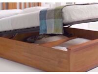 💥🔥SAME/NEXT DAY FREE DELIVERY🔥🔥New Malmo Oak Finish Wooden Ottoman Storage Bed Double/ King Size