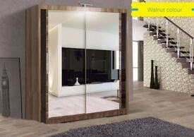 NEW OFFER-STYLISH CHICAGO BRANDED BEAUTIFUL CHICAGO 2 DOOR FULL MIRROR WARDROBE-CASH ON DELIVERY