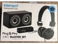 Intempo 3 in 1 Blaster Set BLACK NEW