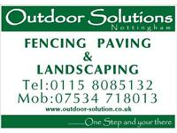 Fencing paving block paving ground works building hard landscapes landscaping