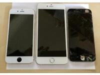 iPhone 6 Black iPhone 6 Plus Gold and iPhone 6S Gold