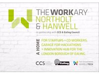 TheWorkary Ealing open now - brilliant location, hot desks + fixed desks - from £65 per month!!