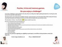 Paid volunteers needed for psychology study £15 Amazon voucher for 1.5 hours