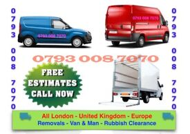 BIG VAN/ MAN HOUSE REMOVAL COMMERCIAL MOVING OFFICE SHIFTING BIKE MOVERS RECOVERY LUTON TRUCK HIRE