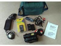 Sony handycam video recorder with accessories