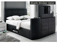 BED BRAND NEW TV BED WITH GAS LIFT STORAGE Fast DELIVERY 6AUDUB