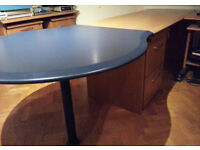 Large Desk with removable 1000mm Conference end table. Very versatile Office or Study furniture.