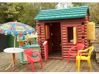 Little tikes playhouse log cabin (delivery)