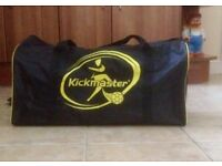 Kickmaster sports bag with accessories