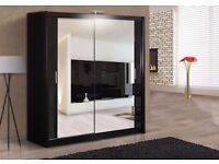 """Wow Offer"" Chicago 2 Door Sliding Mirror Wardrobe ""Cheap Price"""
