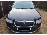 SKODA SUPERB ELEGANCE 2.0TDi, 170 bhp BLACK (2010) 1 OWNER. FULL SPEC PLUS