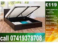 AB DOUBLE storage leeatheer Base single King size available / Bedding