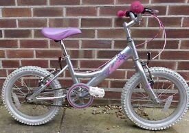 Girls Silver Lotte Bicycle
