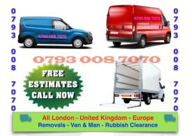 CHEAP VAN & MAN HOUSE/ OFFICE REMOVAL SERVICE ANY UNWANTED JUNK COLLECTION RUBBISH CLEARANCE WASTE