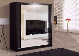 BRANDED SUPERB FINISH!!CHICAGO SLIDER 2 DOOR SLIDING WARDROBE AVAILABLE IN BROWN BLACK COLOUR