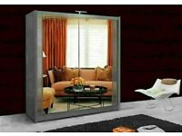🌈Brand New Berlin Full Mirror 2 Door Sliding Wardrobe w More Shelves & Rails