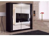 SAME DAY -- GERMAN MIRRORED SLIDING DOORS WARDROBE IN 4 COLOURS - BRAND NEW