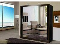 🔵💖🔴LIMITED STOCK OFFER🔵💖🔴Berlin 2 Door Sliding Mirror Wardrobe -- Cheapest Price -- Same Day