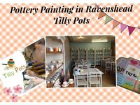 Paint your own Pottery in Ravenshead - Tilly Pots - Great for parties too
