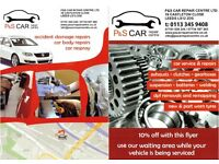car and van service & repairs, car and van body repairs Leeds LS12 2DS P&S Car Repair Centre Ltd