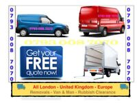 CHEAP VAN & MAN HOUSE/ OFFICE REMOVAL SERVICE FLAT MOVING STUDENT MOVERS LUTON TAIL LIFT TRUCK HIRE