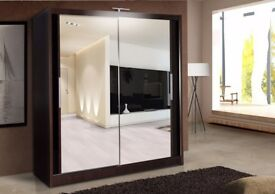 *⚫***DIFFERENT COLOURS⚫* BRAND NEW BERLIN SLIDING DOORS WARDROBE IN BLACK WALNUT WHITE IN ALL SIZES