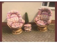 cane swivel chairs conservatory / garden / patio /toilet if large