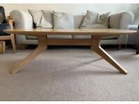 Oak Cross Oval Coffee Table by Matthew Hilton for Case