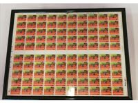 Commonwealth Games Edinburgh 1986 100 Stamps Sheet Framed
