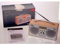 LOGIK DAB DIGITAL RADIO - MODEL L55DAB15 - STYLISH SILVER & WOOD DESIGN