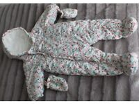 Baby Girl Clothes 6-9 Months Winter Snowsuit George