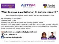 Seeking autistic adults to take part in research at the University of Manchester