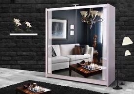 🚚🚛 BRAND NEW 2 Door Sliding Wardrobe with Full Mirrors in Black Grey Oak White Walnut Wenge Color