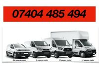 SMALL BIG VAN MOVING LORRY LUTON VAN TRUCK HIRE WITH DRIVER FOR REMOVALS DELIVERY SERVICE AND MAN