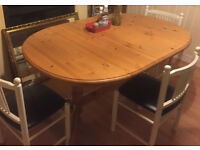 real pine wood dining table
