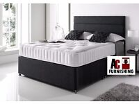 ★★ BRAND NEW ★★ DOUBLE/KING SIZE ★★ DIVAN BED BASE WITH FULL ORTHOPEDIC MATTRESS £119
