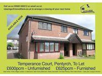 IDEAL 2 Bedroom Flat, Pentyrch, To Let £600pcm