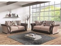 BRAND NEW SHANNON 3+2 SEATER SOFA SET IN BROWN/BEIGE, BLACK/GREY COLORS,AVAILABLE IN CORNER SOFA SET