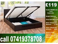 New DOUBLE storage leather Bed Set