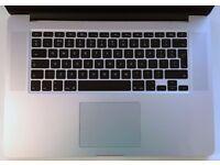 APPLE MACBOOK PRO RETINA 15 INTEL CORE I7 2.6GHZ 16GB RAM 500GB SSD WIFI WEBCAM OS X
