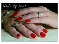 Gel polish with manicure