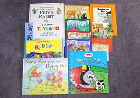 12 Kids books, Thomas The Tank, The Flying Fish, Peter Rabbit