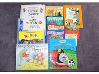 12 Kids books, Thomas The Tank, The Flying Fish, Peter Rabbit