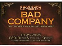 Bluesfest Bad Company at the O2 Saturday 29th October 2016 x 2 Tickets
