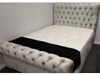 Brand new! Double Chesterfield bed and memory orthopaedic mattress