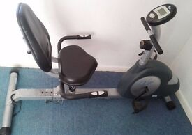 Recumbent Exercise Bike with Heart Rate Monitor