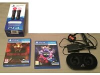 Sony PlayStation Move Controller Twin Pack, Charging Station, VR Worlds & Until Dawn: Rush of Blood