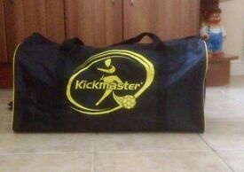 Kickmaster Sports Bag and contents. Like New.